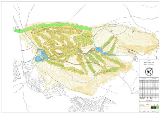 Bois d'Arlon Golf and Resort Course Map