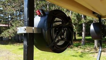 frame mounted golf cart speakers