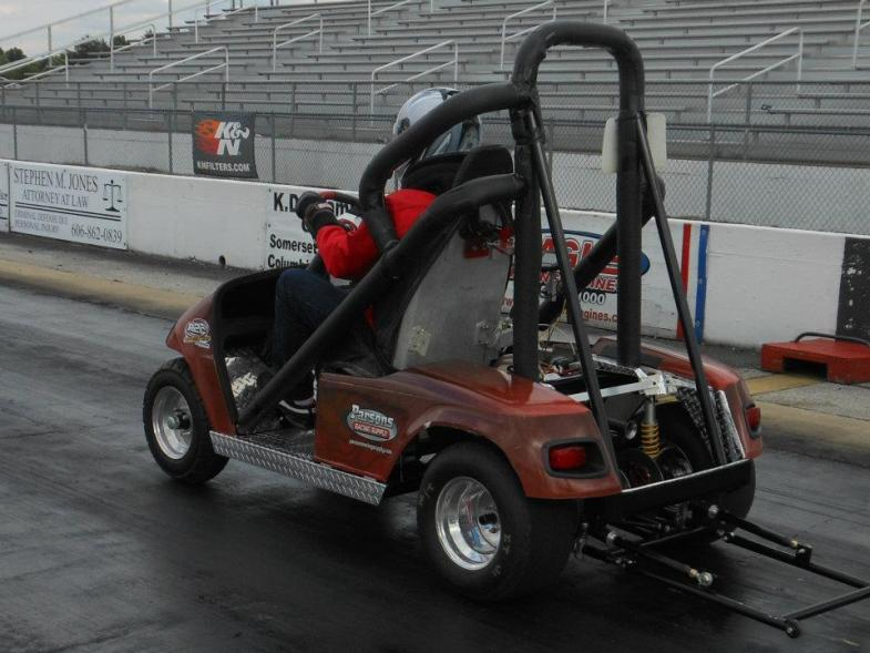 custom made golf cart drag race car