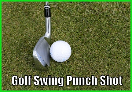 Golf Swing Punch Shot