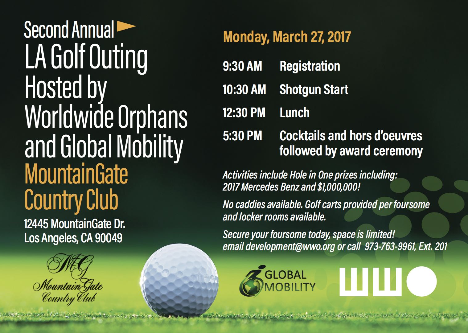 Second Annual LA Golf Outing Hosted by Worldwide Orphans and Global Mobility