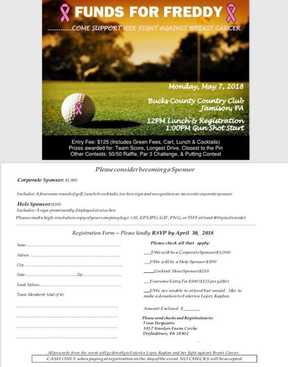 Funds for Freddy Charity Golf Outing