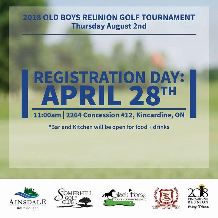 Reunion Golf Tournament Registration
