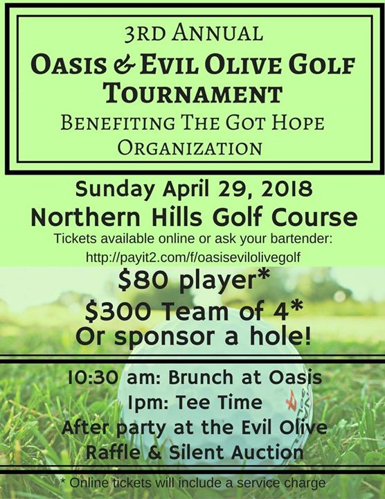 3rd Annual Oasis & Evil Olive Golf Tournament
