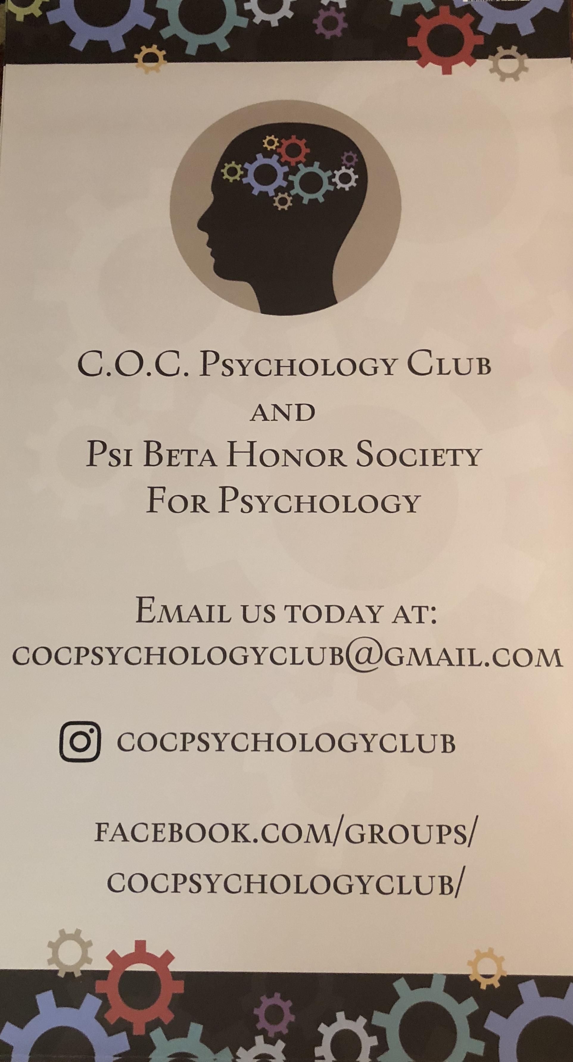 C.O.C. Psychology Club Annual Gratitude Gala/Fundraiser 2018