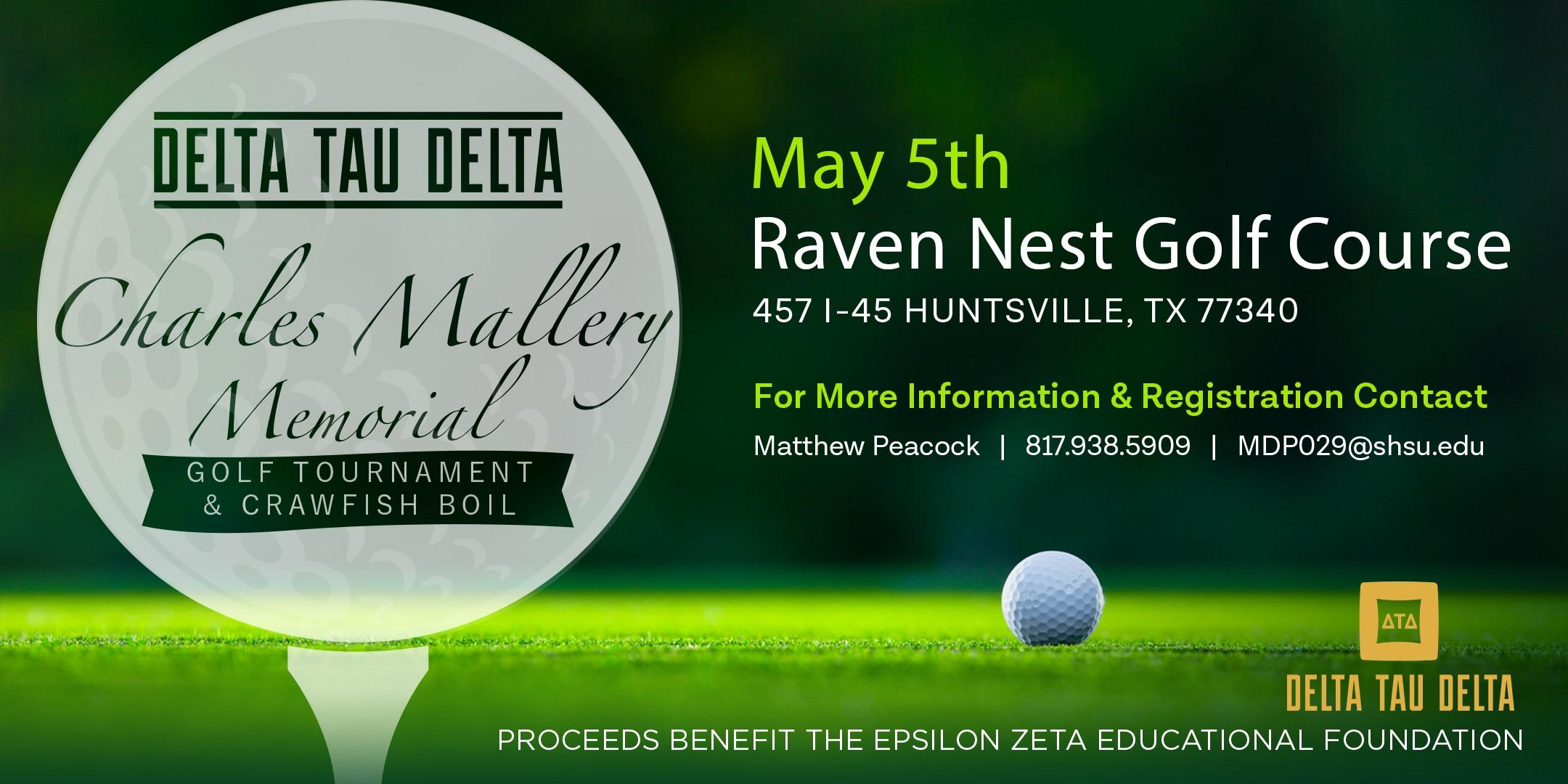 Charles Mallery Memorial Golf Tournament & Crawfish Boil