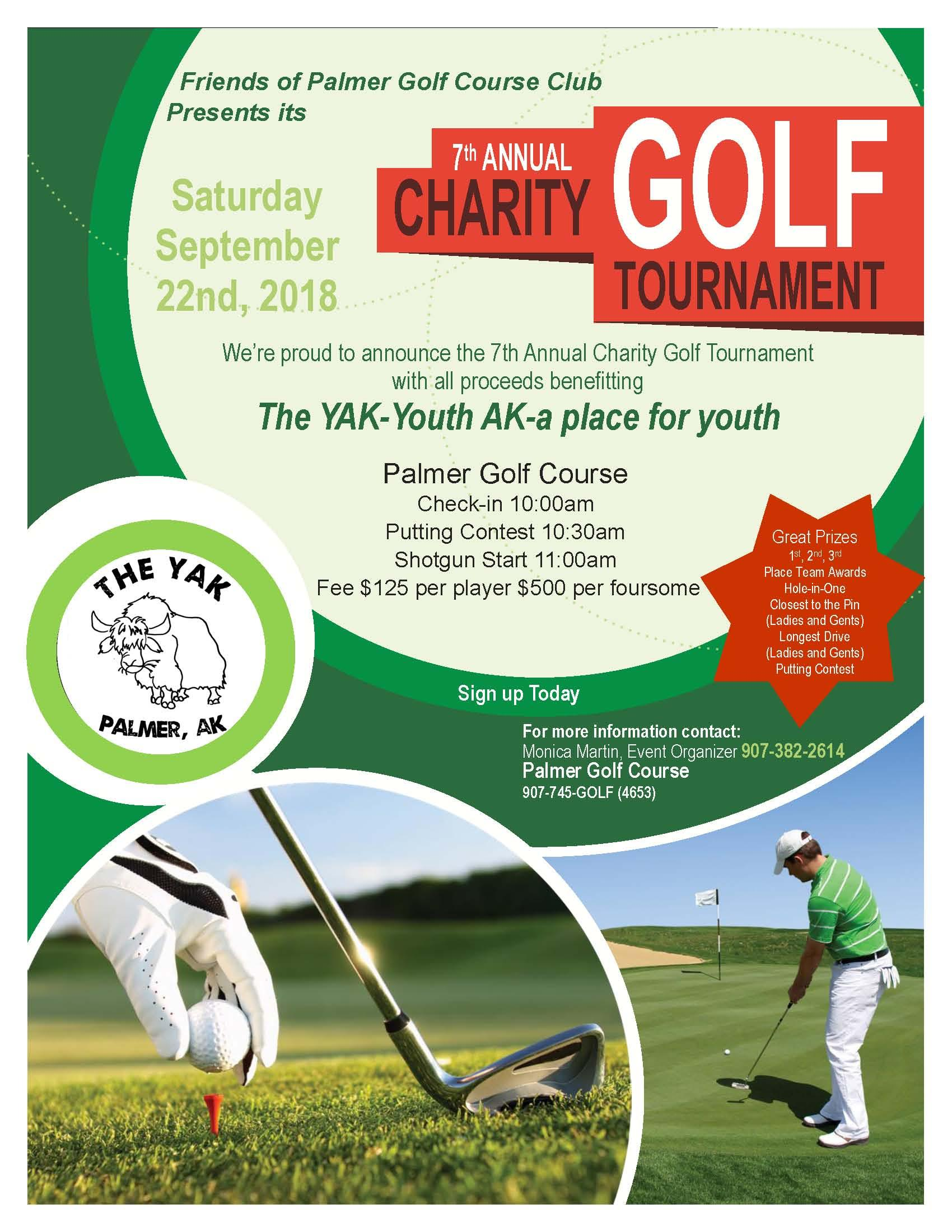 7th Annual Charity Golf Tournament presented by Friends of Palmer Golf Course Club