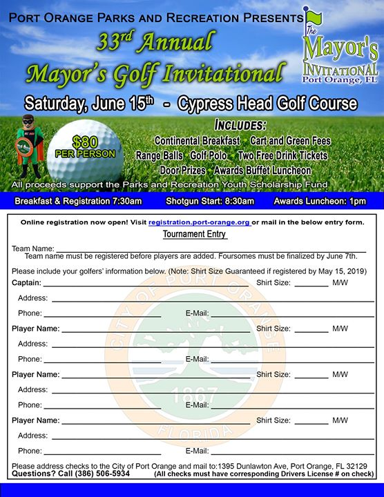 33rd Annual Mayor's Invitational Golf Tournament