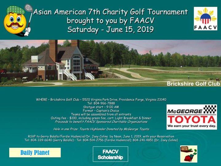 FAACV's Asian American 7th Charity Golf Tournament