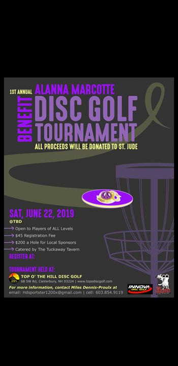 Alanna Marcotte Disc Golf Benefit Tournament