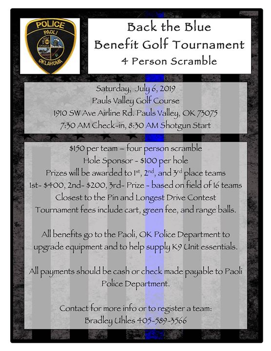 Back the Blue Benefit Golf Tournament