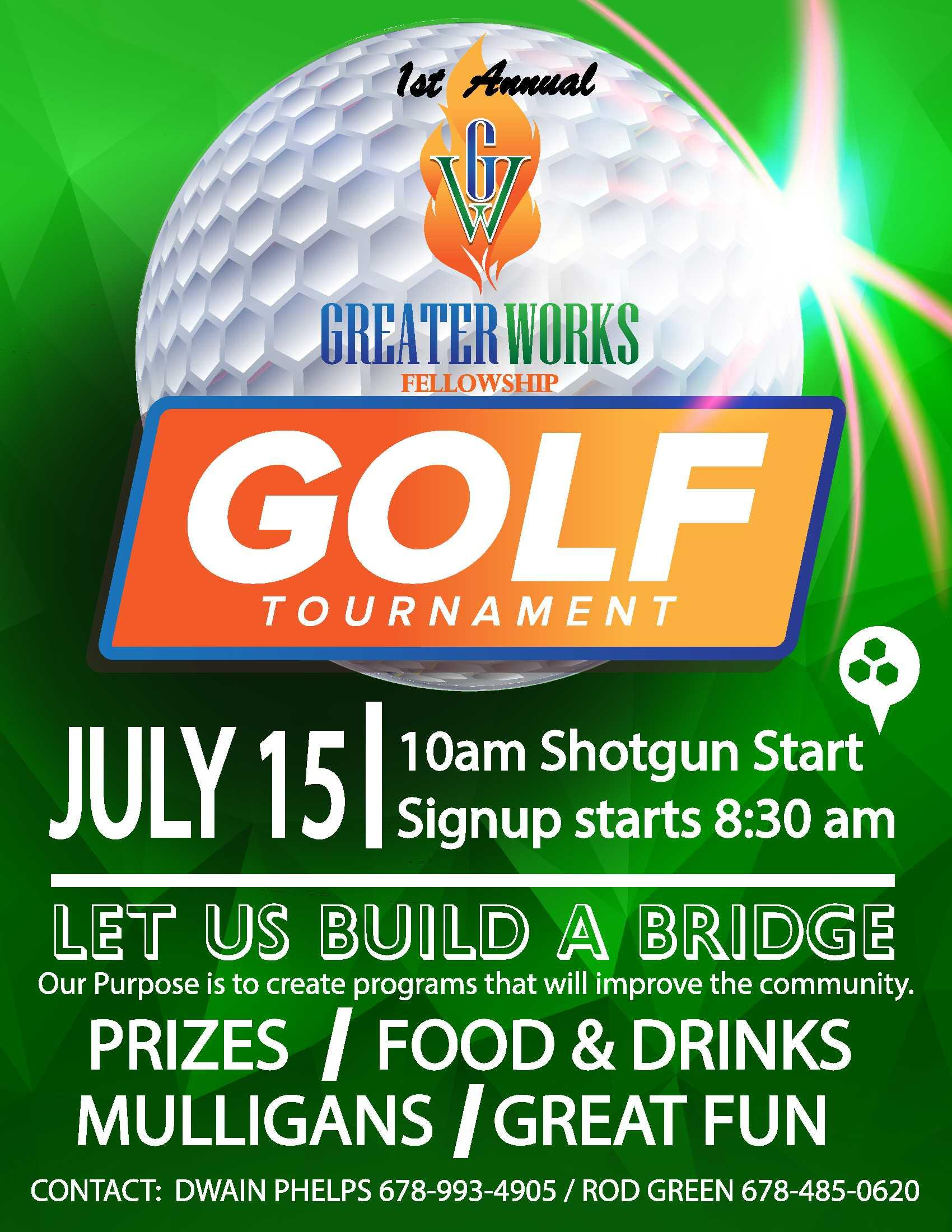 Greater Works Fellowship Annual Golf Tournament