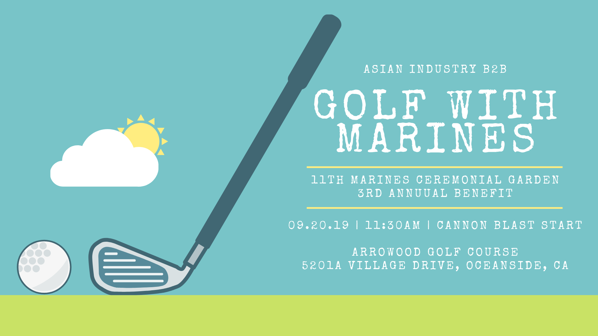 AIB2B Golfs with the Marines