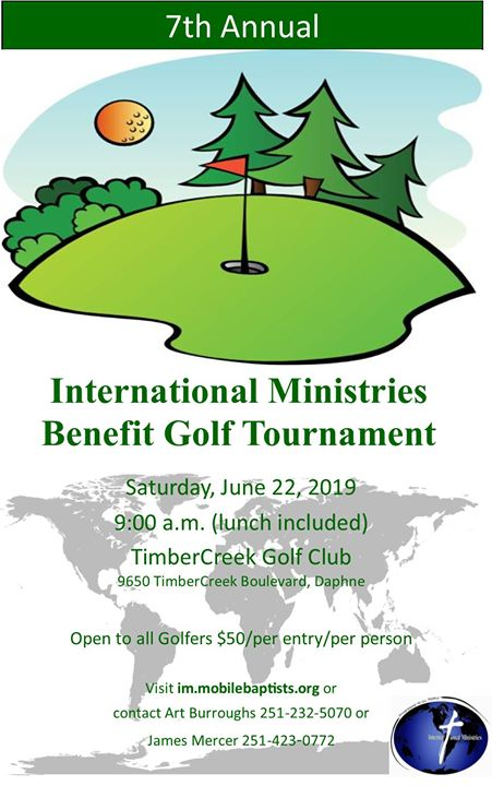 7th Annual International Ministries Benefit Golf Tournament