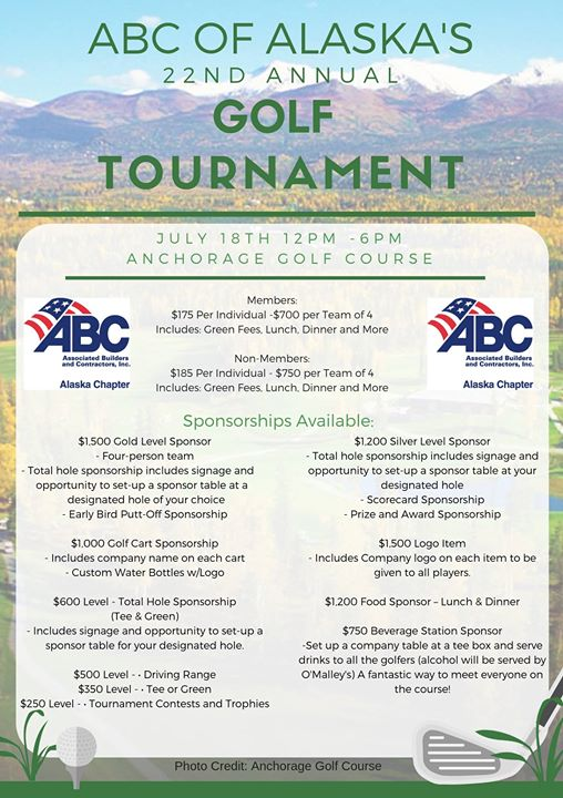 ABC of Alaska's 22nd Annual Golf Tournament