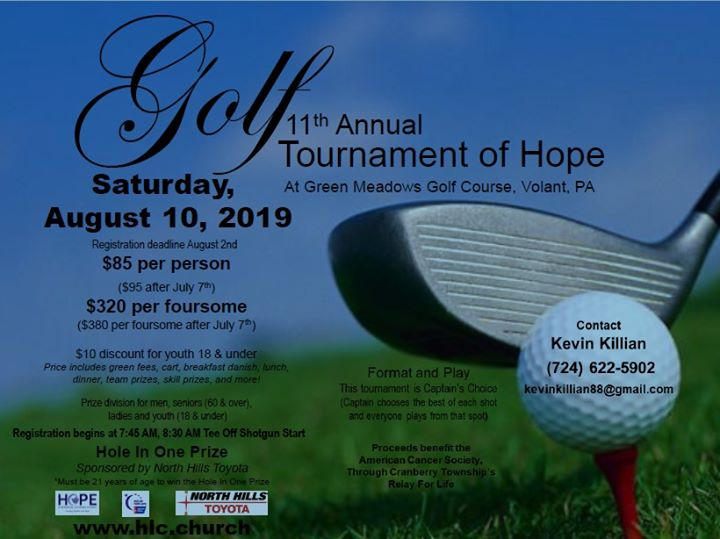 11th Annual Golf Tournament of Hope