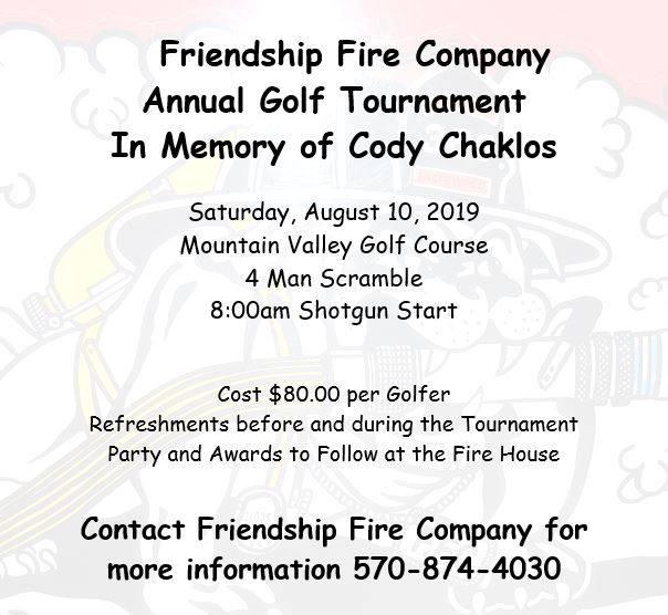 Friendship Fire Co. Annual Golf Tournament