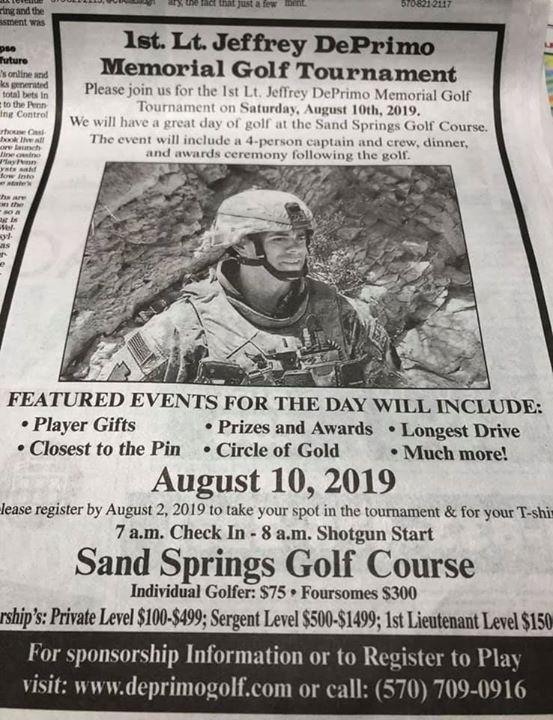 1st LT. Jeff DePrimo Memorial Golf Tournament