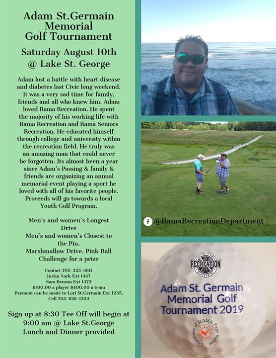 Adam St. Germain Memorial Golf Tournament