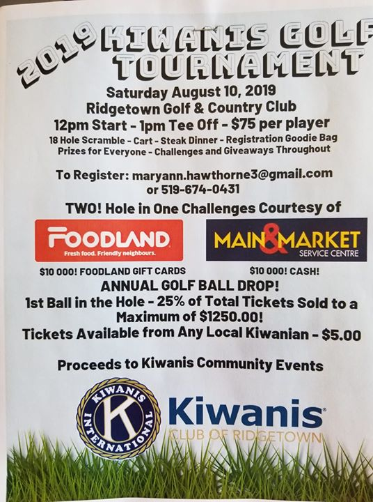 2019 Kiwanis Golf Tournament