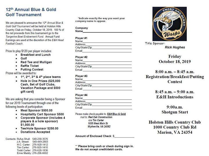 Blue & Gold Golf Tournament