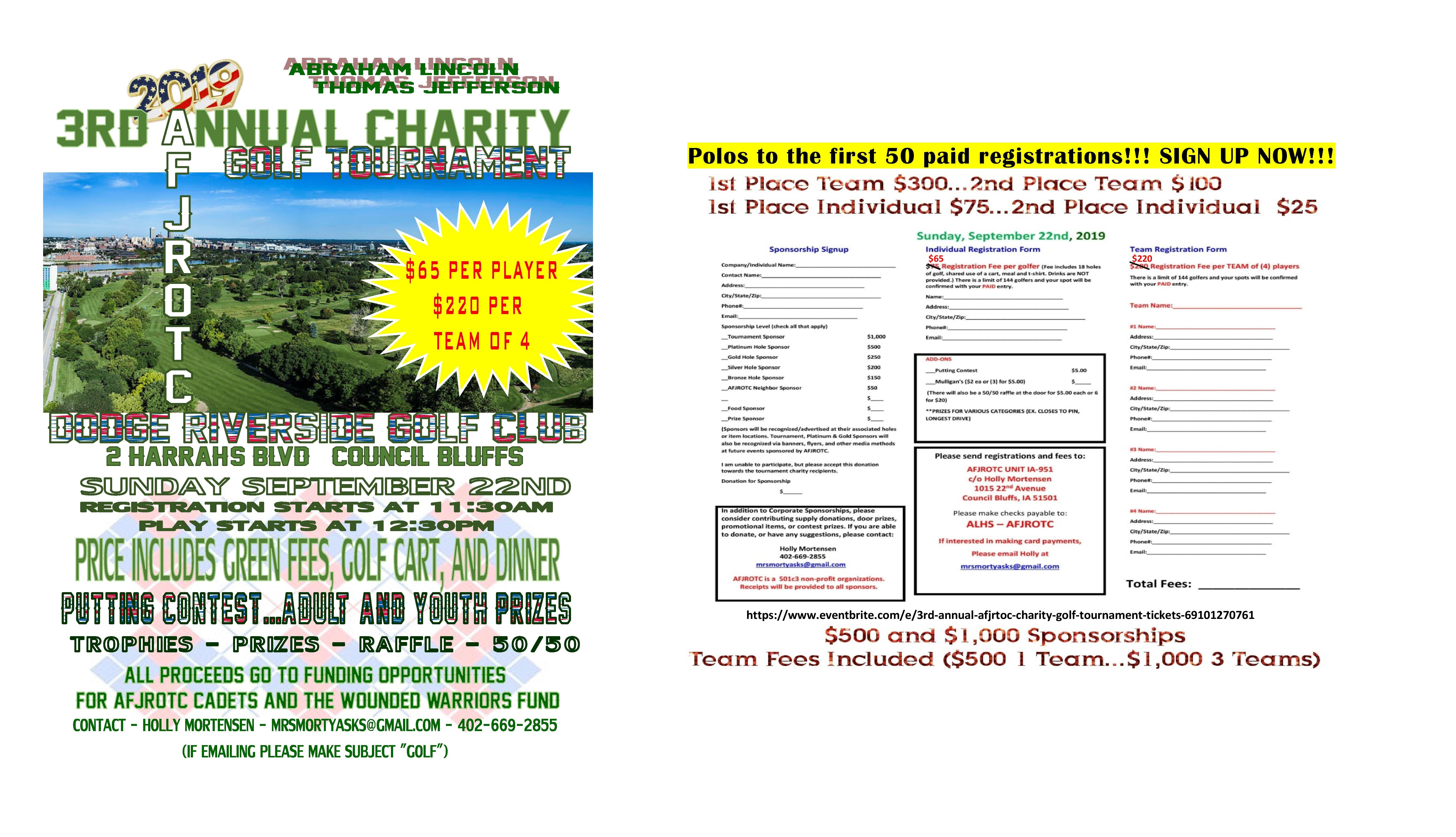 3rd Annual AFJRTOC Charity Golf Tournament
