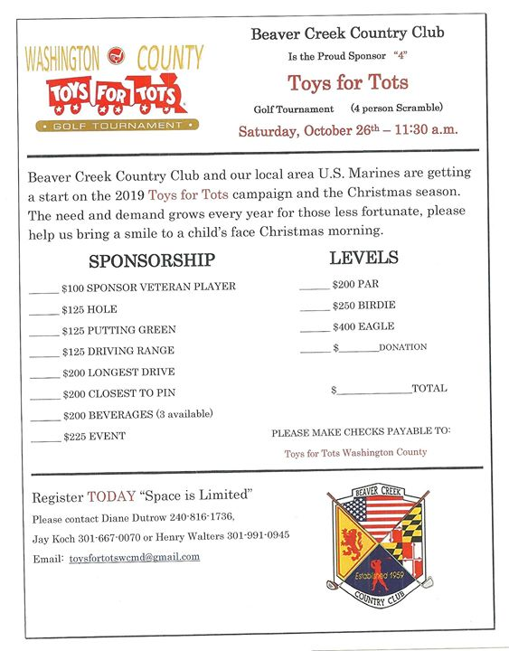 Toys for Tots Golf Tournament