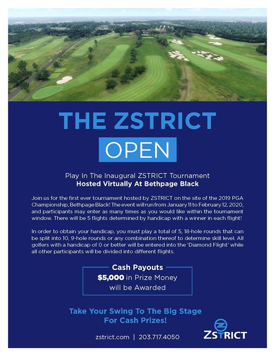 The ZSTRICT Open Virtual Golf Tournament