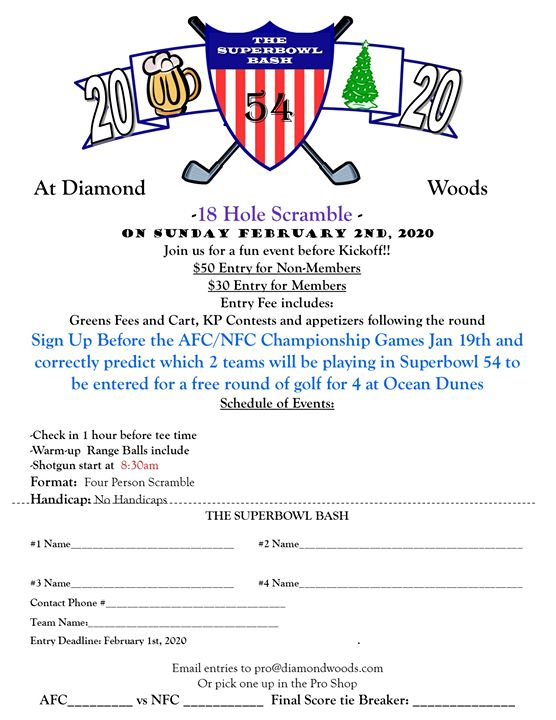 Super Bowl Bash Golf Tournament