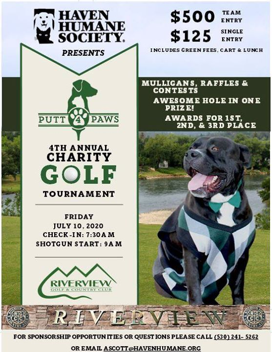 Putt 4 Paws 4th Annual Golf Tournament at Riverview Golf Course
