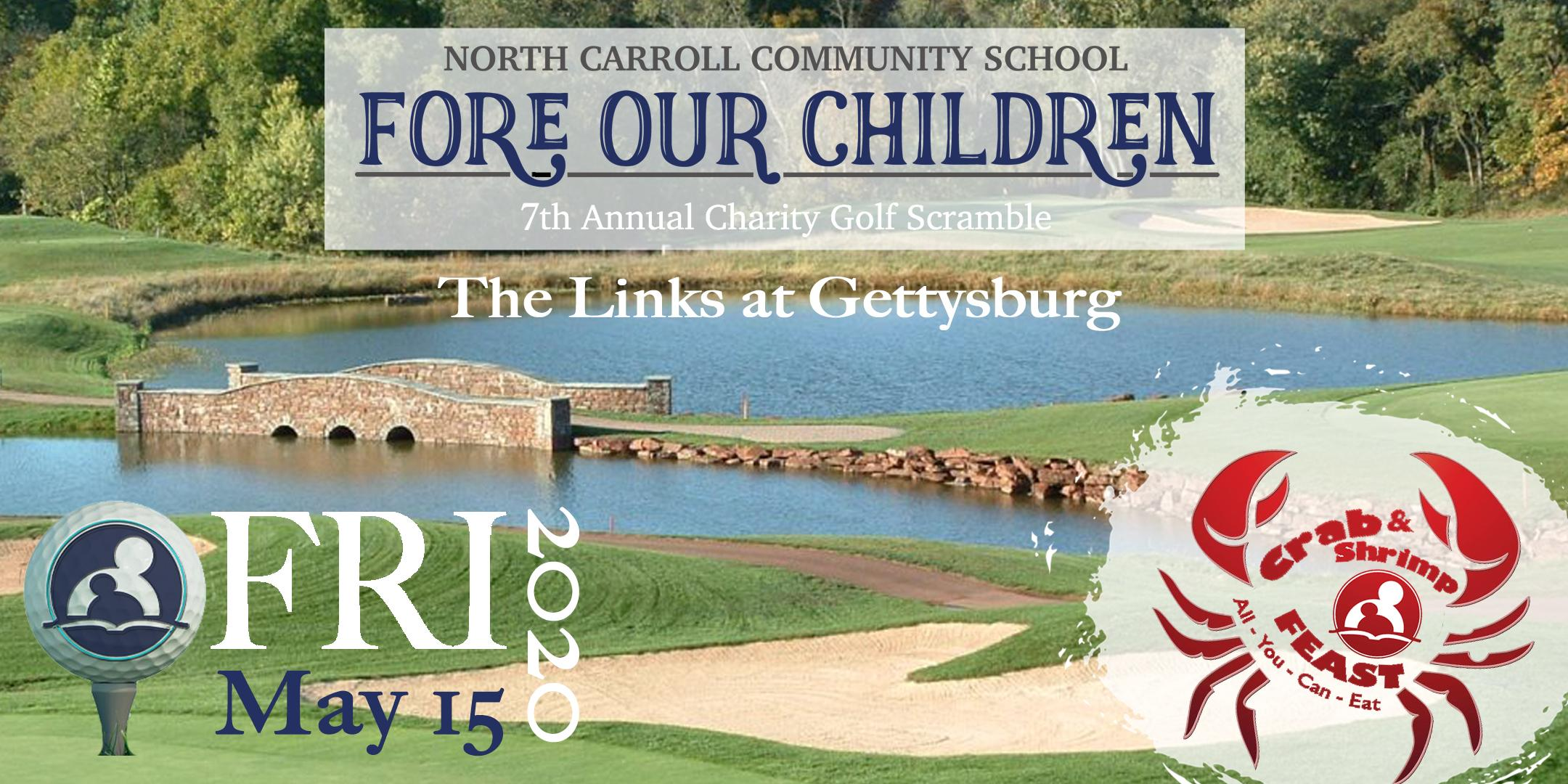 7th Annual Fore Our Children Charity Golf Scramble & AYCE Crab & Shrimp Feast