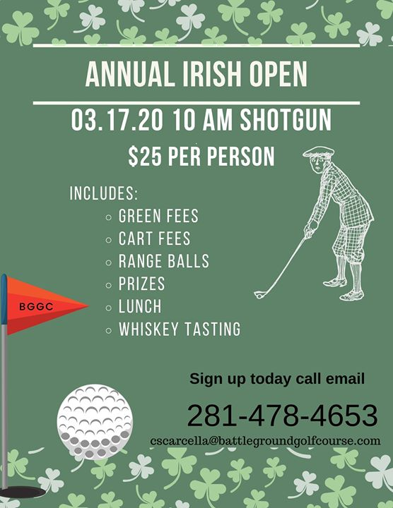 IRISH OPEN Golf Scramble