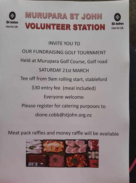 Murupara St John Volunteer Station fundraising Golf Tournament