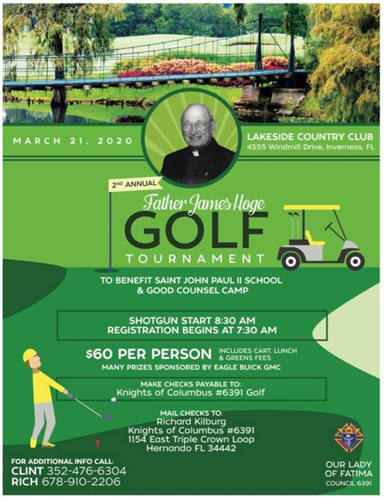 2nd Annual Father James Hoge Golf Tournament