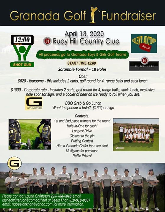 2020 GHS Golf Tournament Fundraiser @Ruby Hill Golf Course