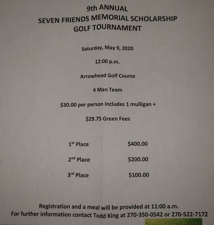 7 Friends Golf Tournament