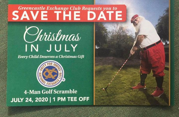 Greencastle Exchange Club's Christmas in July Golf Tournament