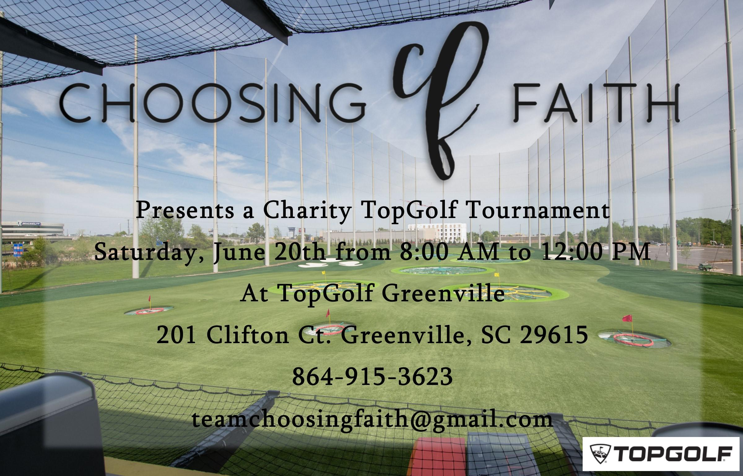 Choosing Faith Foundation TopGolf Charity Tournament