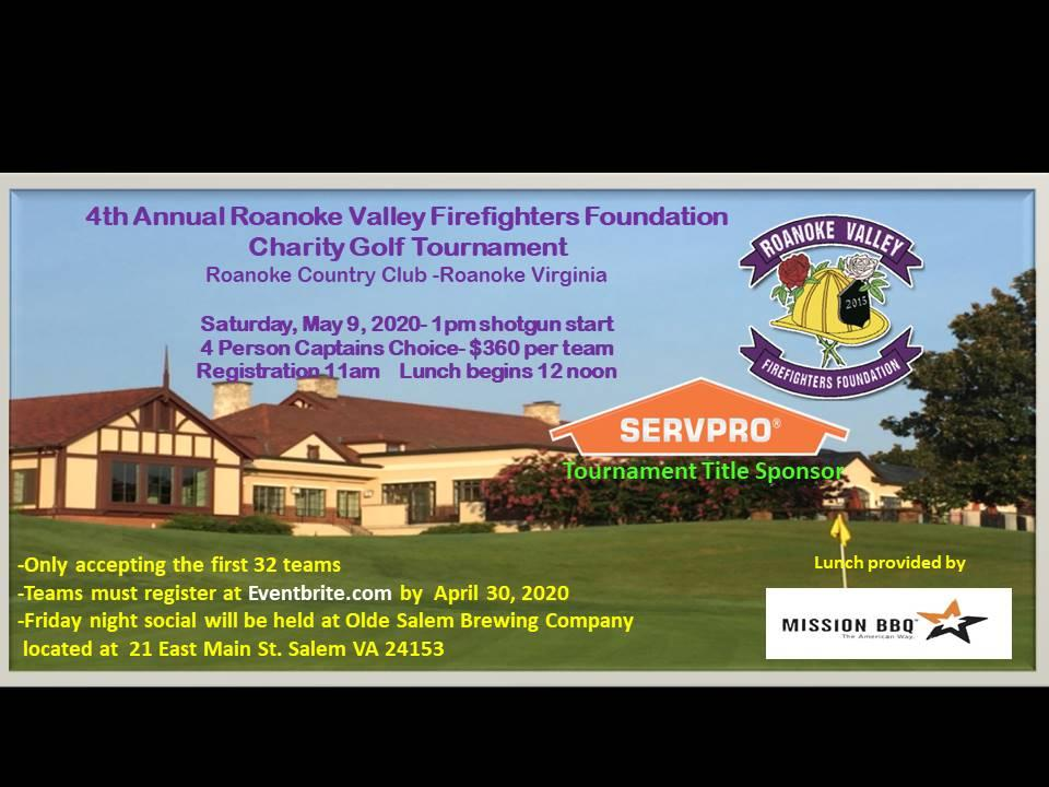 Roanoke Valley Fire Fighters Foundation Golf Tournament