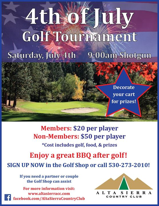 4th of July Golf Tournament