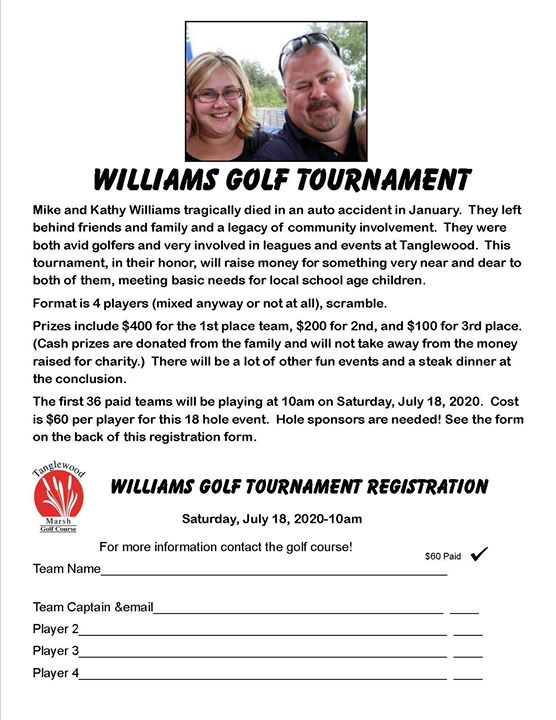 Williams Golf Tournament