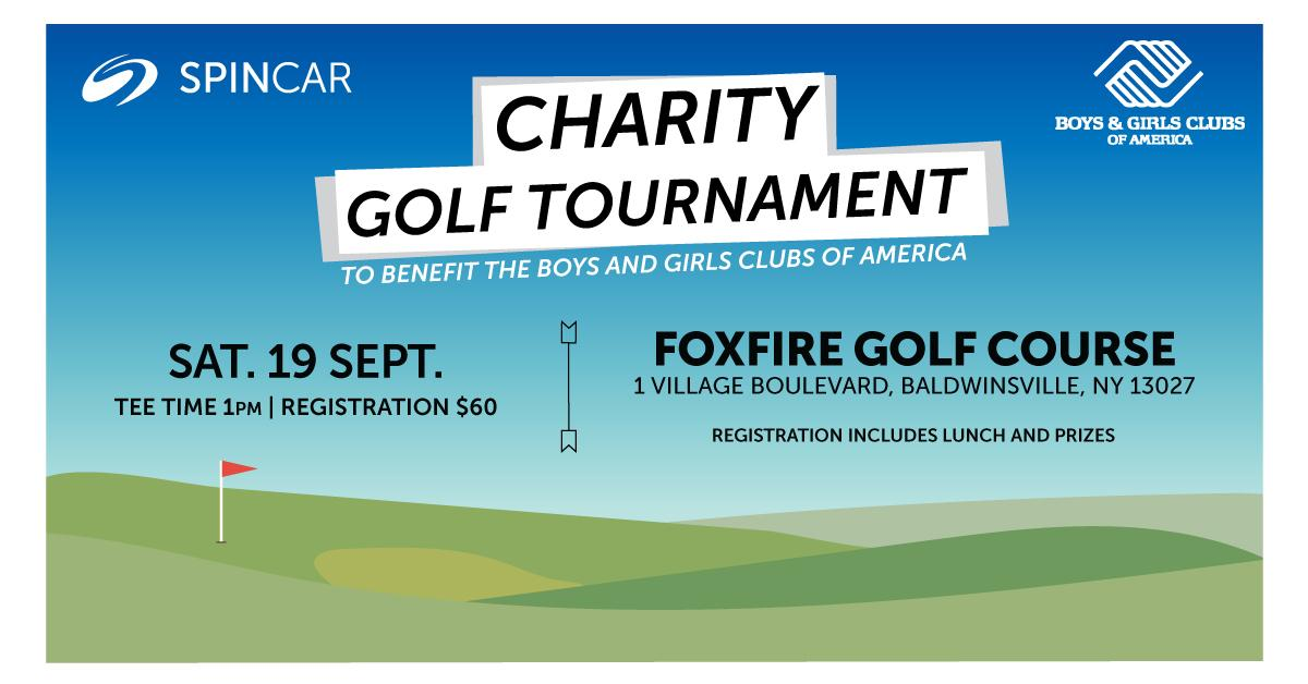 Charity Golf Tournament to benefit the Boys and Girls Clubs of America