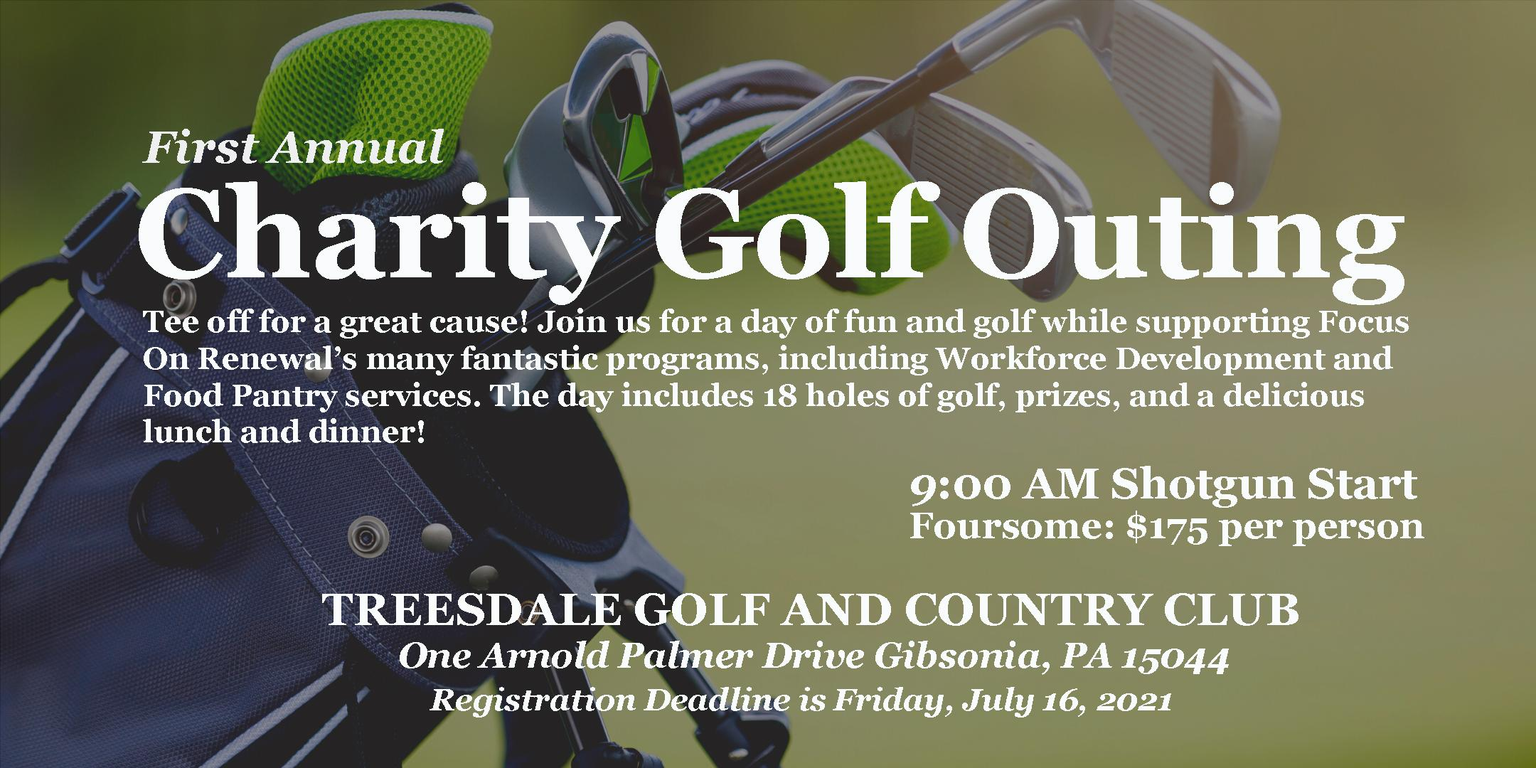 Focus On Renewal's First Annual Charity Golf Tournament