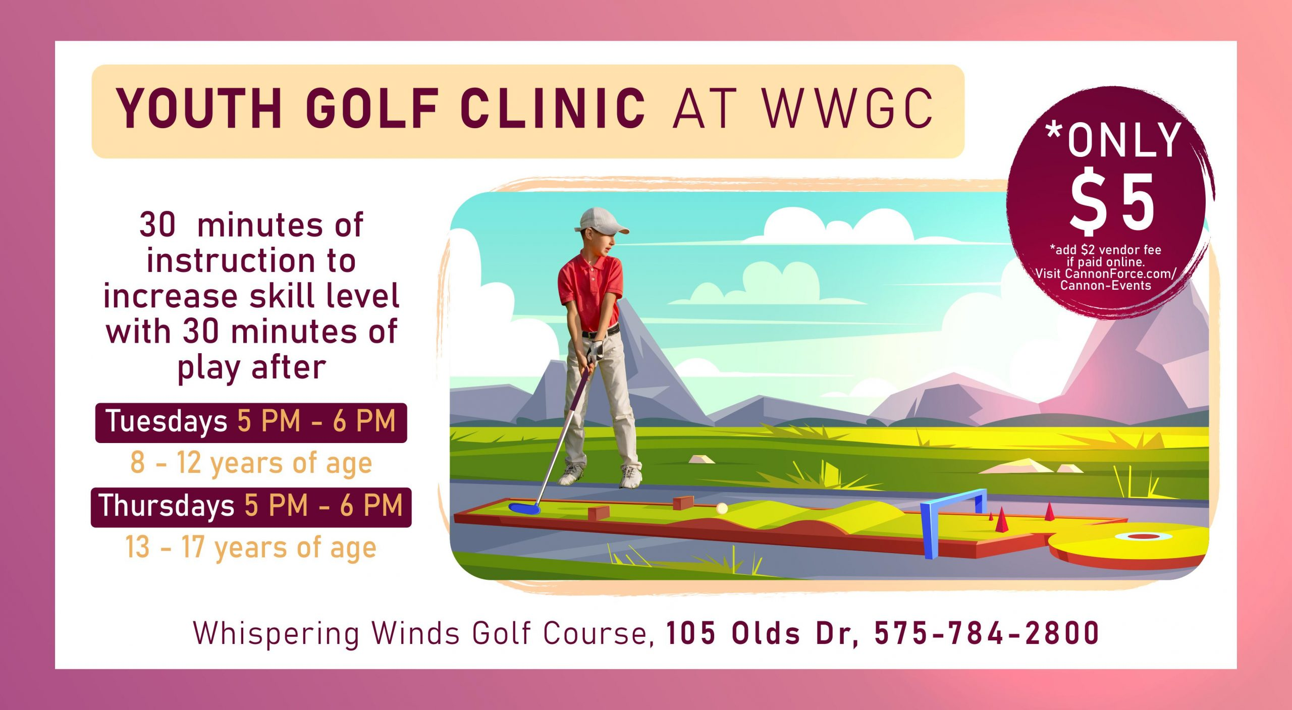 Junior Golf Clinic (Ages 13-17)