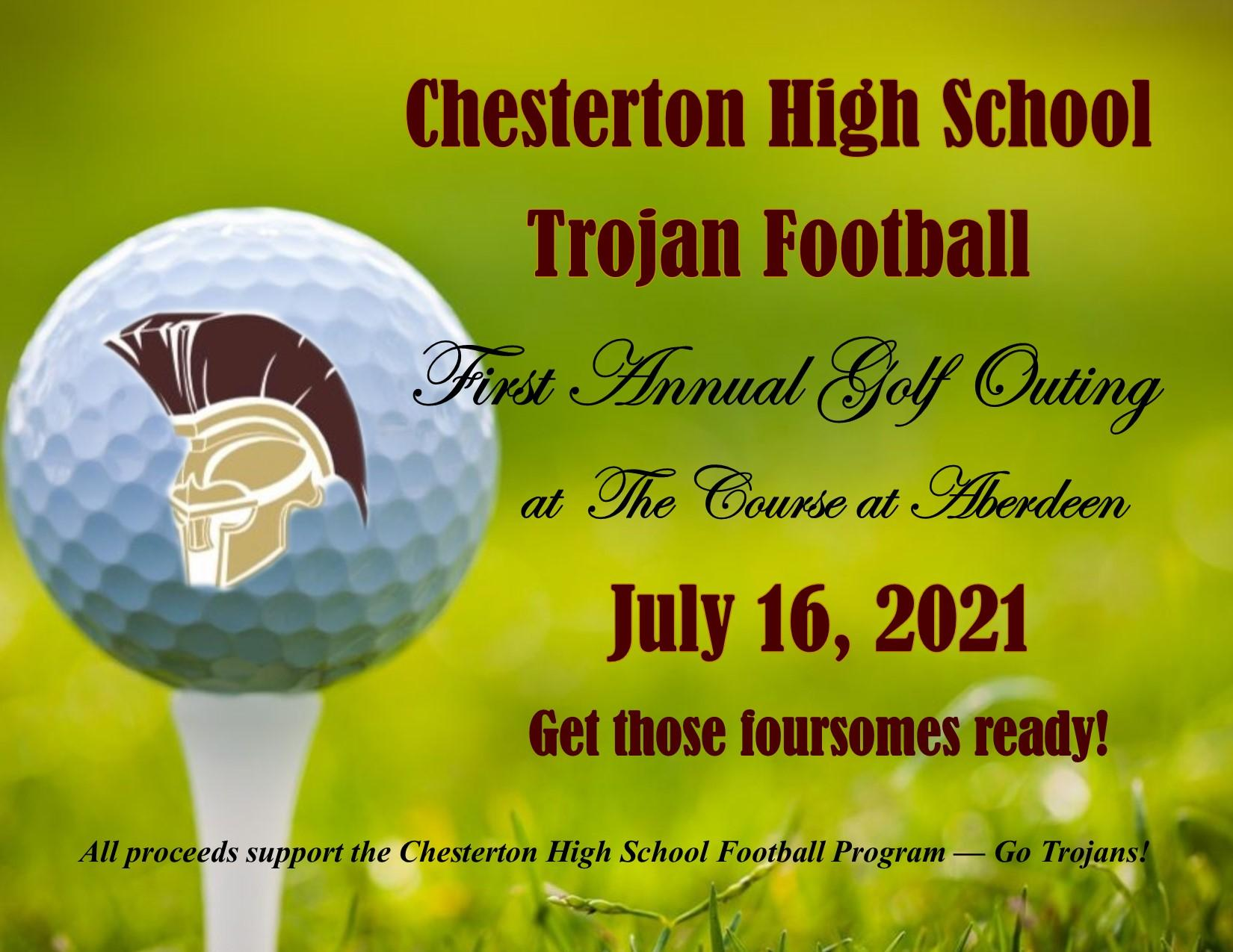 1st Annual CHS Football Golf Outing - July 16, 2021@the Course at Aberdeen