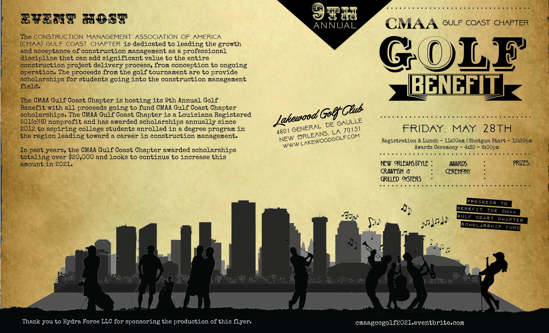 9th Annual Golf Benefit for CMAA Gulf Coast Chapter Scholarships