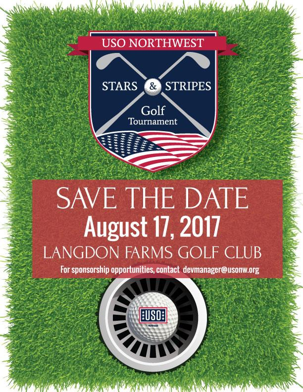 Military Golfer sign up 2021 USO Northwest Stars & Stripes Golf Tournament