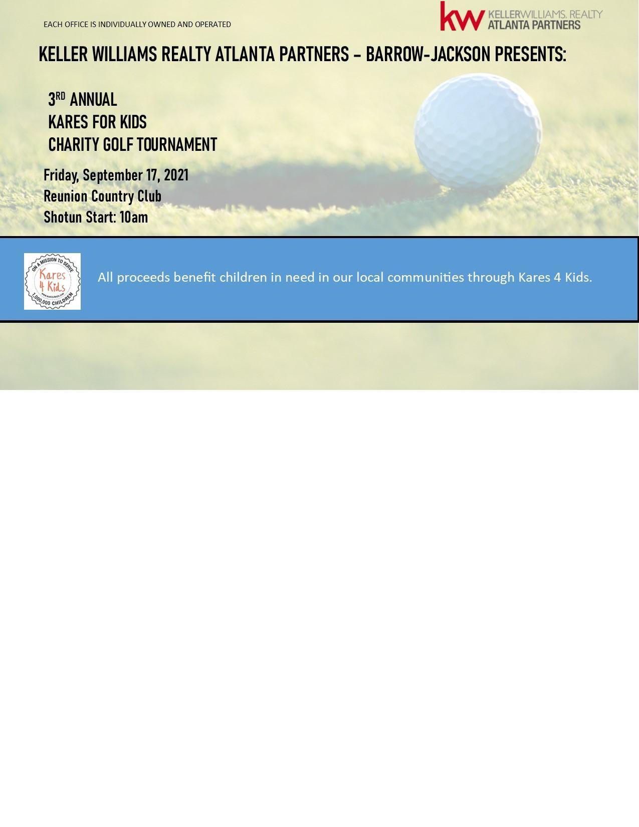 3rd Annual Kares 4 Kids Golf Tournament