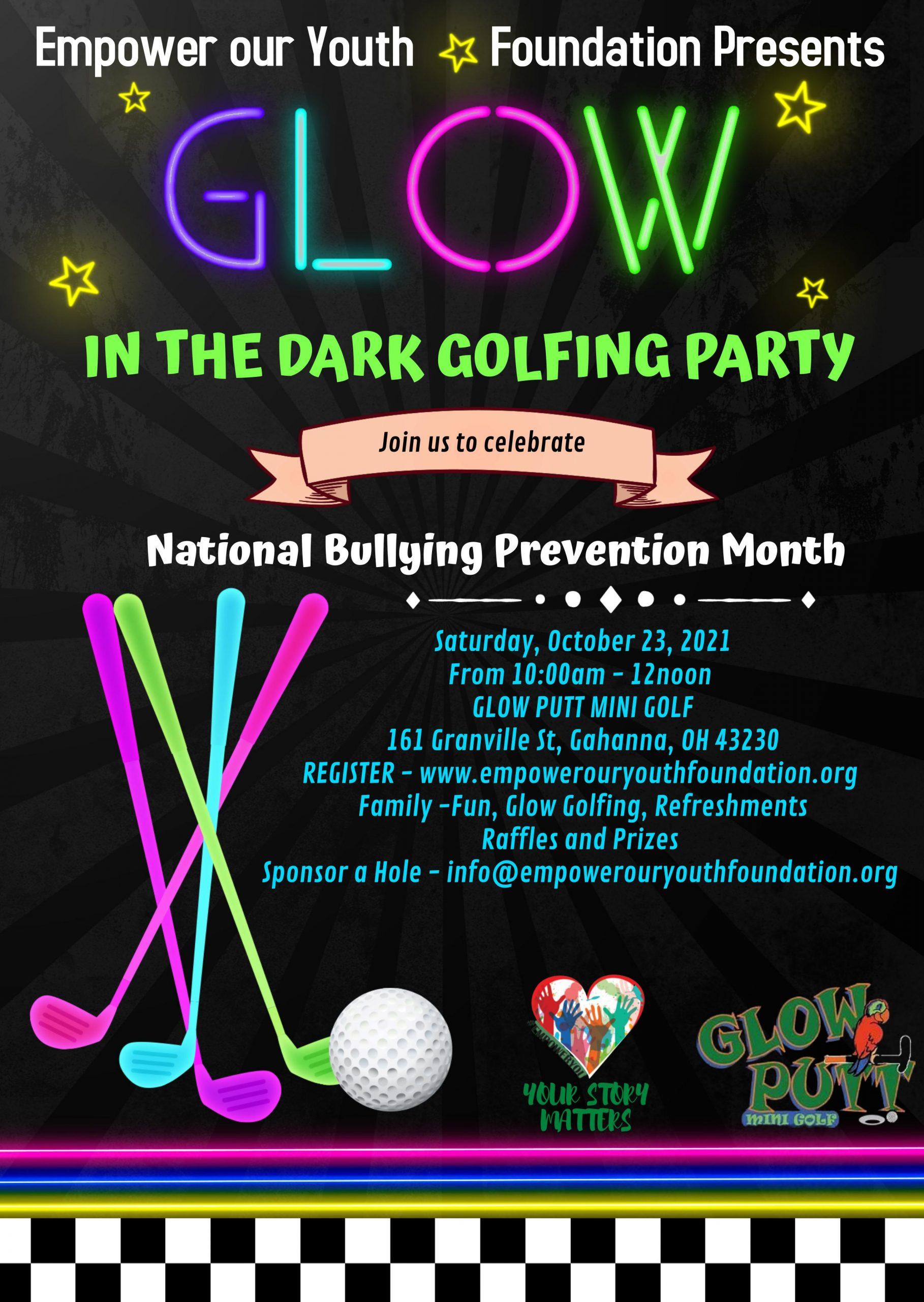 Glow in the Dark Golfing Party