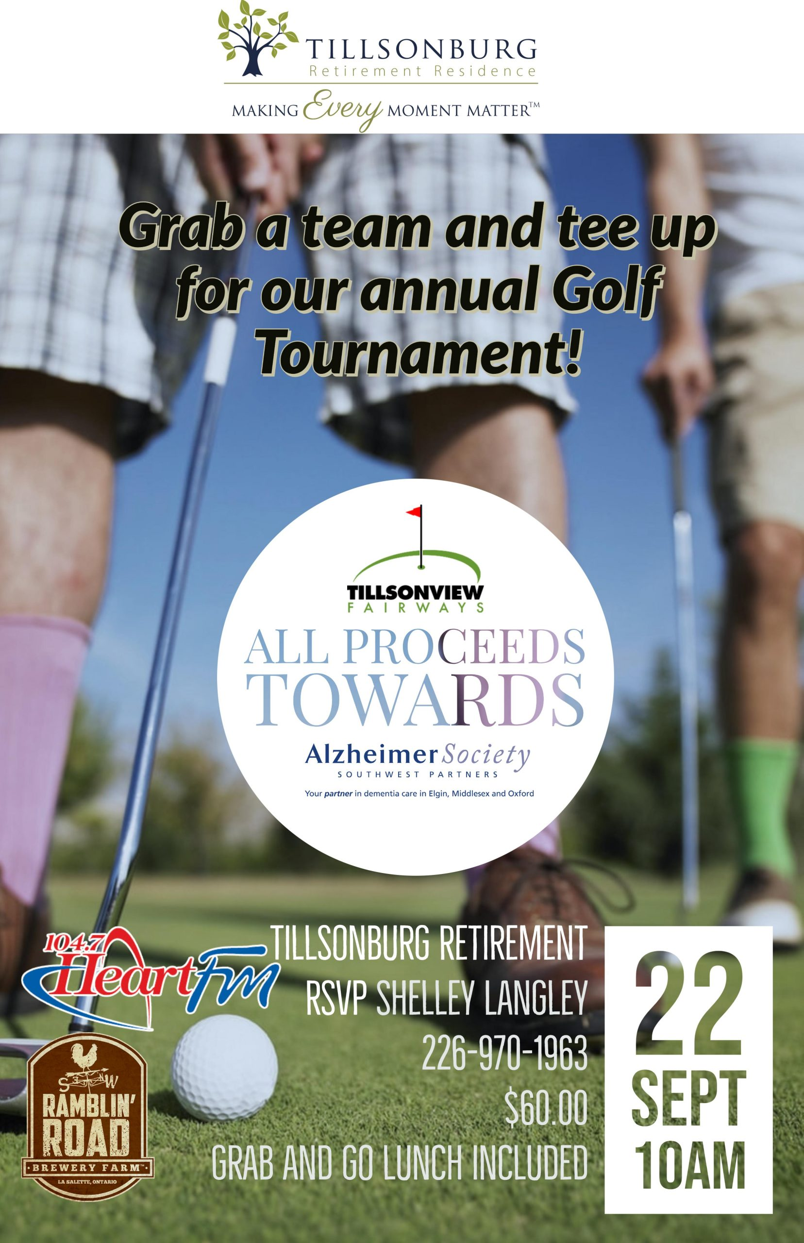 Charity Golf Tournament for Alzheimer's South West
